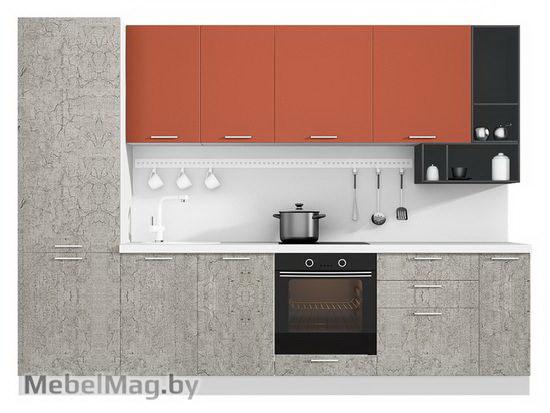 Прямая кухня Кухня Plastica 3000-2