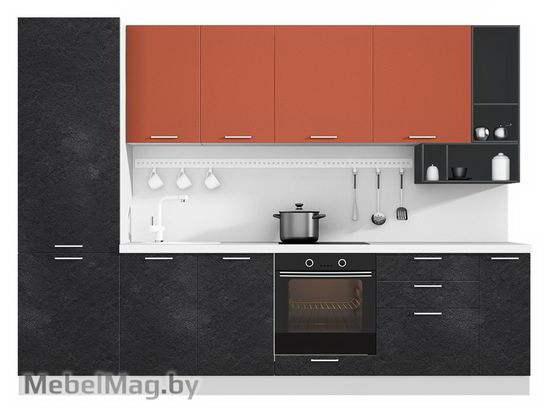 Прямая кухня Кухня Plastica 3000-3