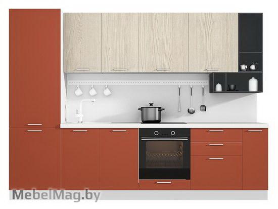 Прямая кухня Кухня Plastica 3000-4