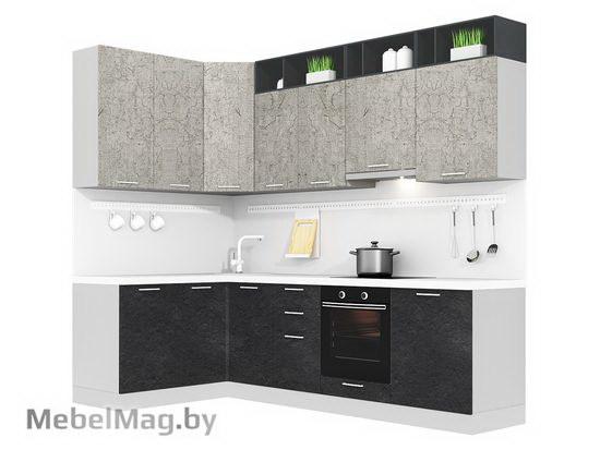 Угловая кухня Кухня Plastica 1500x2700-1