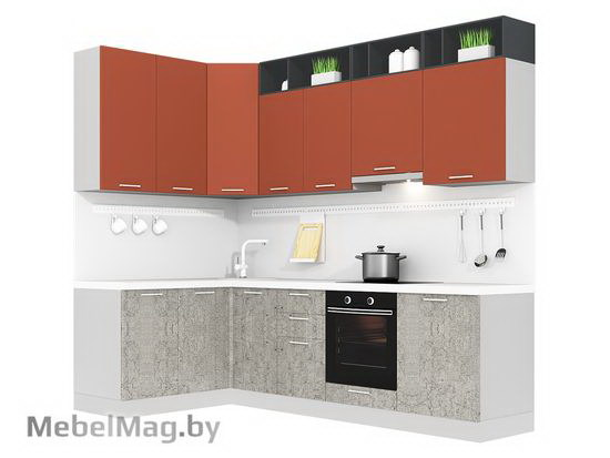 Угловая кухня Кухня Plastica 1500x2700-2