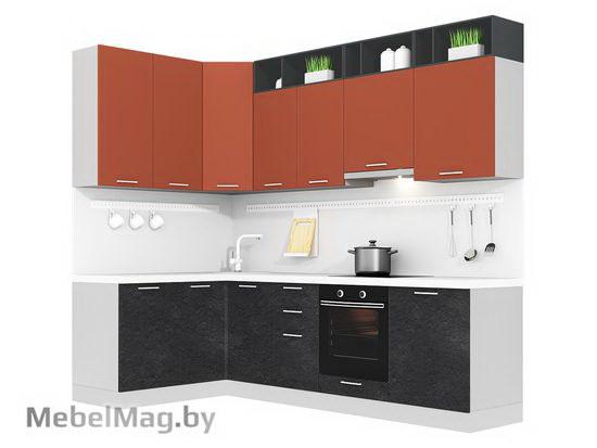 Угловая кухня Кухня Plastica 1500x2700-3