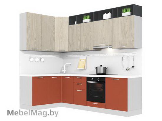 Угловая кухня Кухня Plastica 1500x2700-4