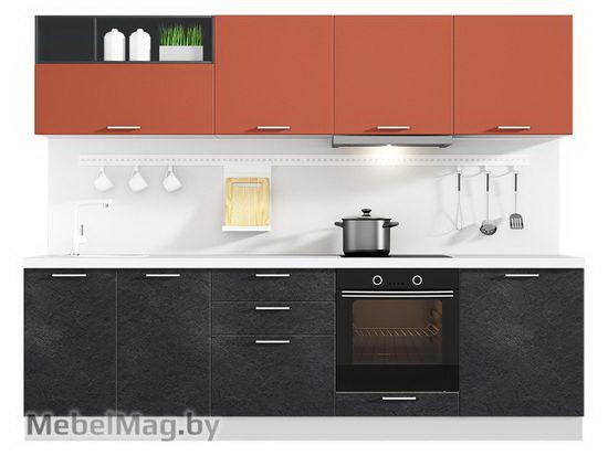 Прямая кухня Кухня Plastica 2700-3