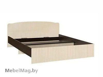 Кровать полуторная фигурная спинка 1200мм Венге - Коллекция Светлана