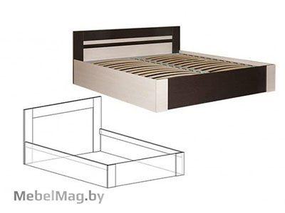 Кровать 1400 Венге/Дуб молочный - Спальня Софи