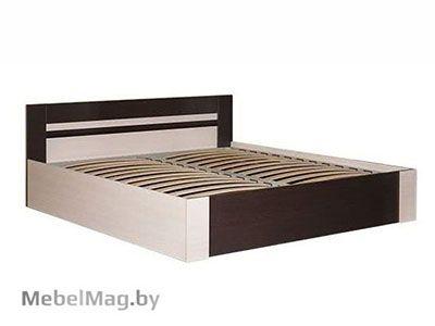 Кровать 1800 Венге/Дуб молочный - Спальня Софи