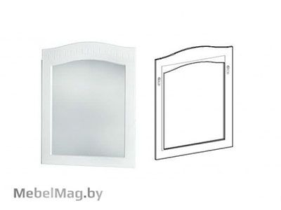 Зеркало Скол дуба белый - Спальня Шарлота