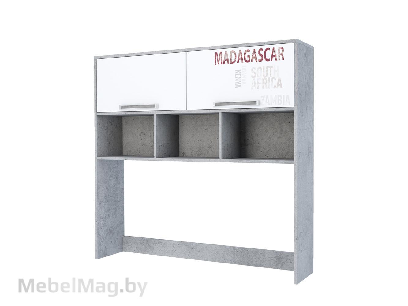 Надстройка на стол Цемент св./Белый - Коллекция Грей