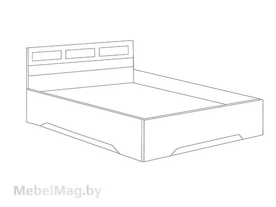 Кровать двойная  1,4x2,0 Дуб Венге/ Дуб Млечный - Коллекция Эдем 2