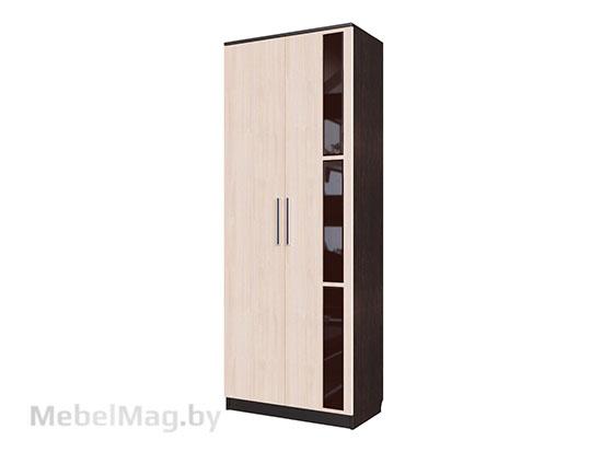 Шкаф двухстворчатый для платья Дуб Венге/ Дуб Млечный - Эдем 2