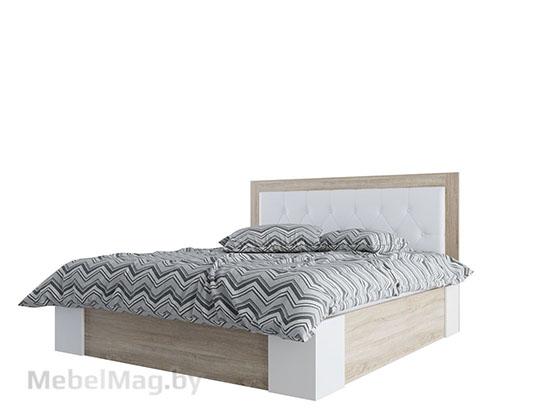 Кровать двойная Универ-ая 1,4x2,0 Дуб Сонома/Жемчуг - Лагуна 6