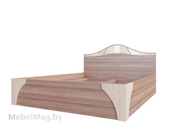 Кровать двойная №2 1,6x2,0 Ясень Шимо светл./тёмн. - Лагуна 5