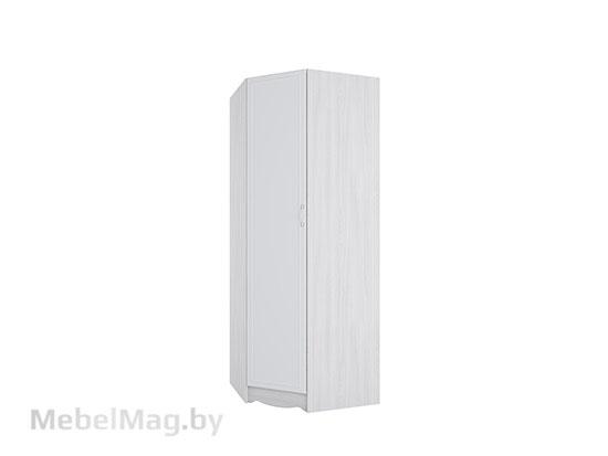 Шкаф угловой Ясень/ белая матовая/Цветы без фотопечати - Акварель 1