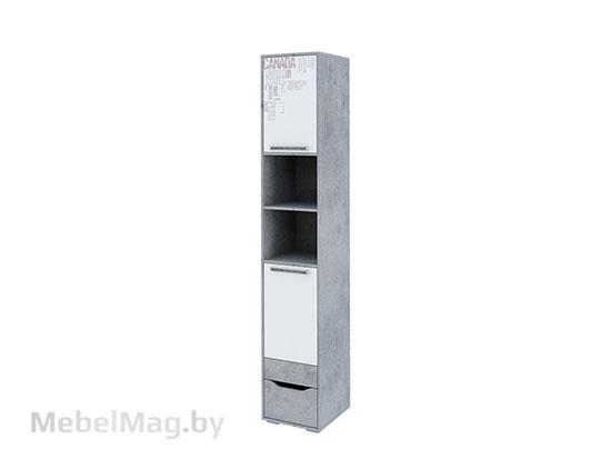 Пенал с ящиком Цемент св./Белый - Коллекция Грей
