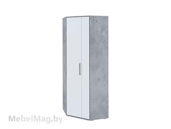 Шкаф угловой Цемент св./Белый - Коллекция Грей