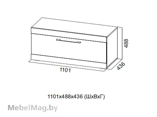 Тумба для ТВ 1100 Галифакс табак/Белый глянец - Коллекция Ницца
