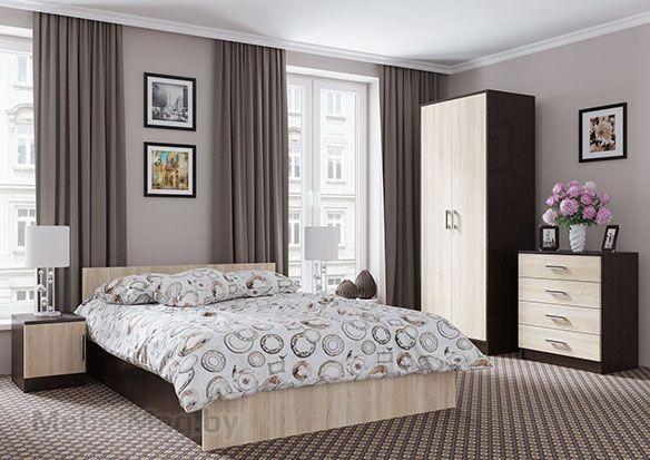 Спальня Эдем 5 - Венге/Сонома набор 1