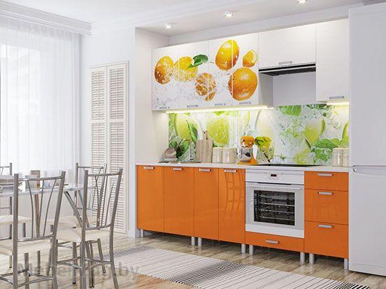 Кухня Модерн фотопечать Апельсины
