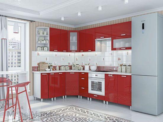 Кухня Модерн Гранат - набор 2