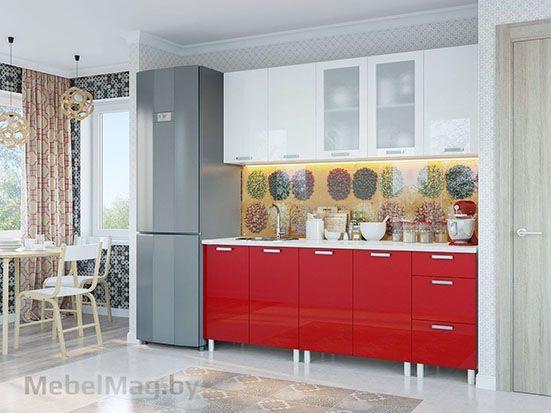 Кухня Модерн Гранат Белый