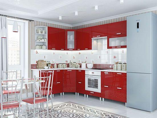 Кухня Модерн Гранат с СГ
