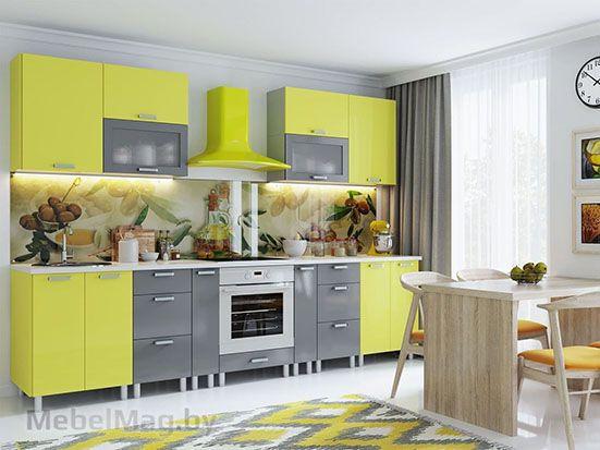 Кухня Модерн Груша Графит - набор 2