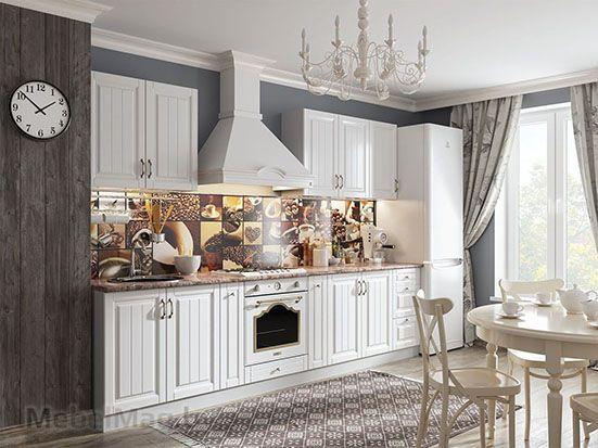 Кухня Прованс белый текстурный