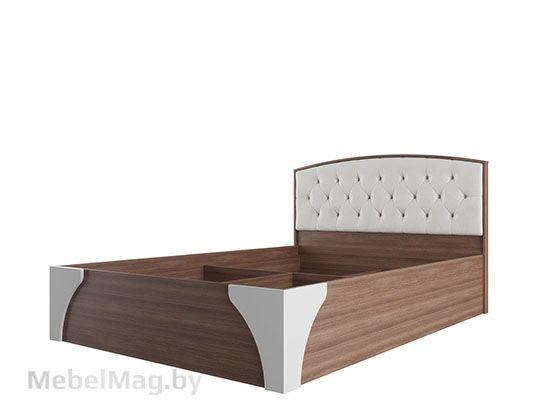 Кровать двойная с пуговицами без матраца 1,6*2,0 Ясень шимо темный/МДФ - Коллекция Лагуна 7