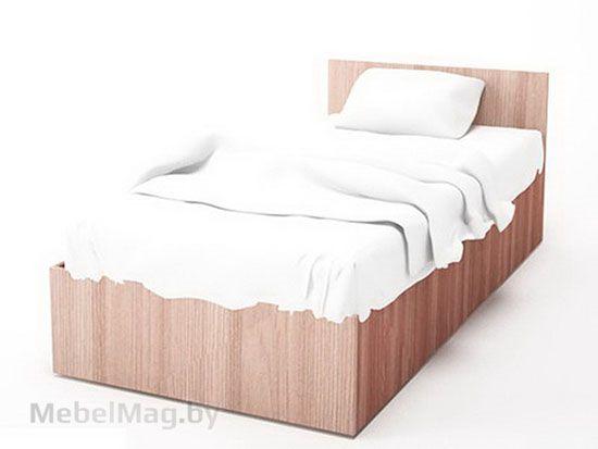 Кровать одинарная 0,9*2,0 Ясень Шимо тм./Ясень Шимо св. - Коллекция Эдем 5