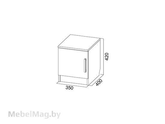 Тумба прикроватная  Дуб Венге/ Сонома - Коллекция Эдем 5
