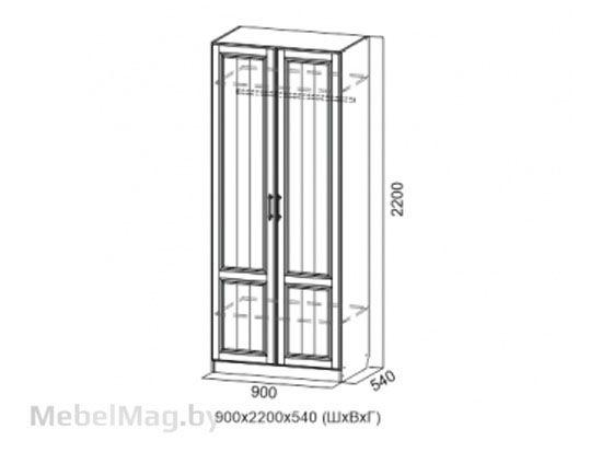 Шкаф двухстворчатый Дуб Сонома/Мускат структурный - Прованс 1