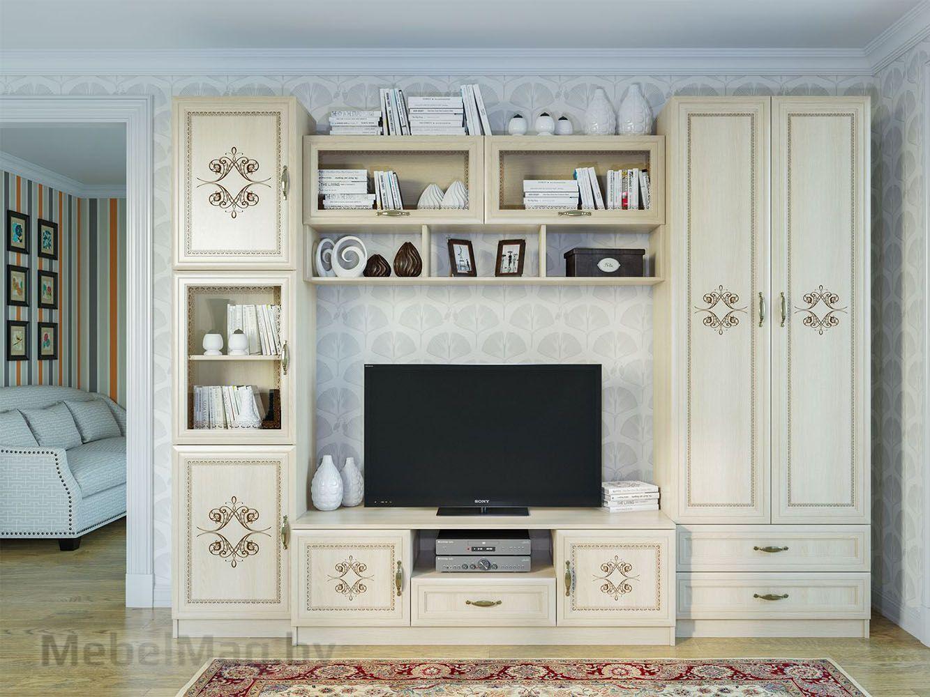 Набор мебели для гостиной  Гамма 18 Сосна Карелия - Коллекция Гамма