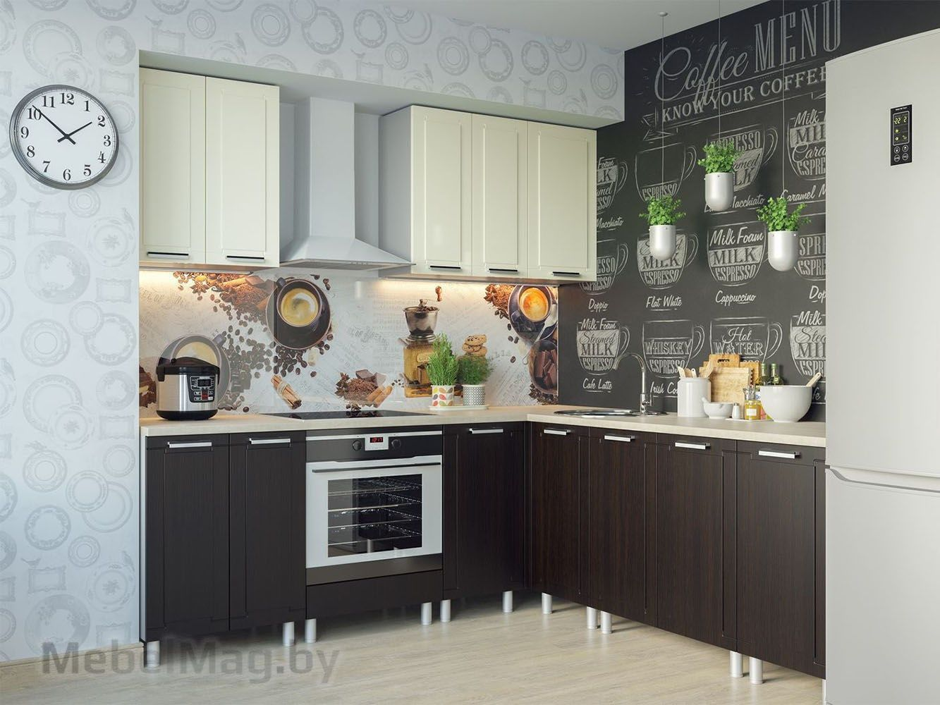 Кухня Геометрия Ваниль - набор 1