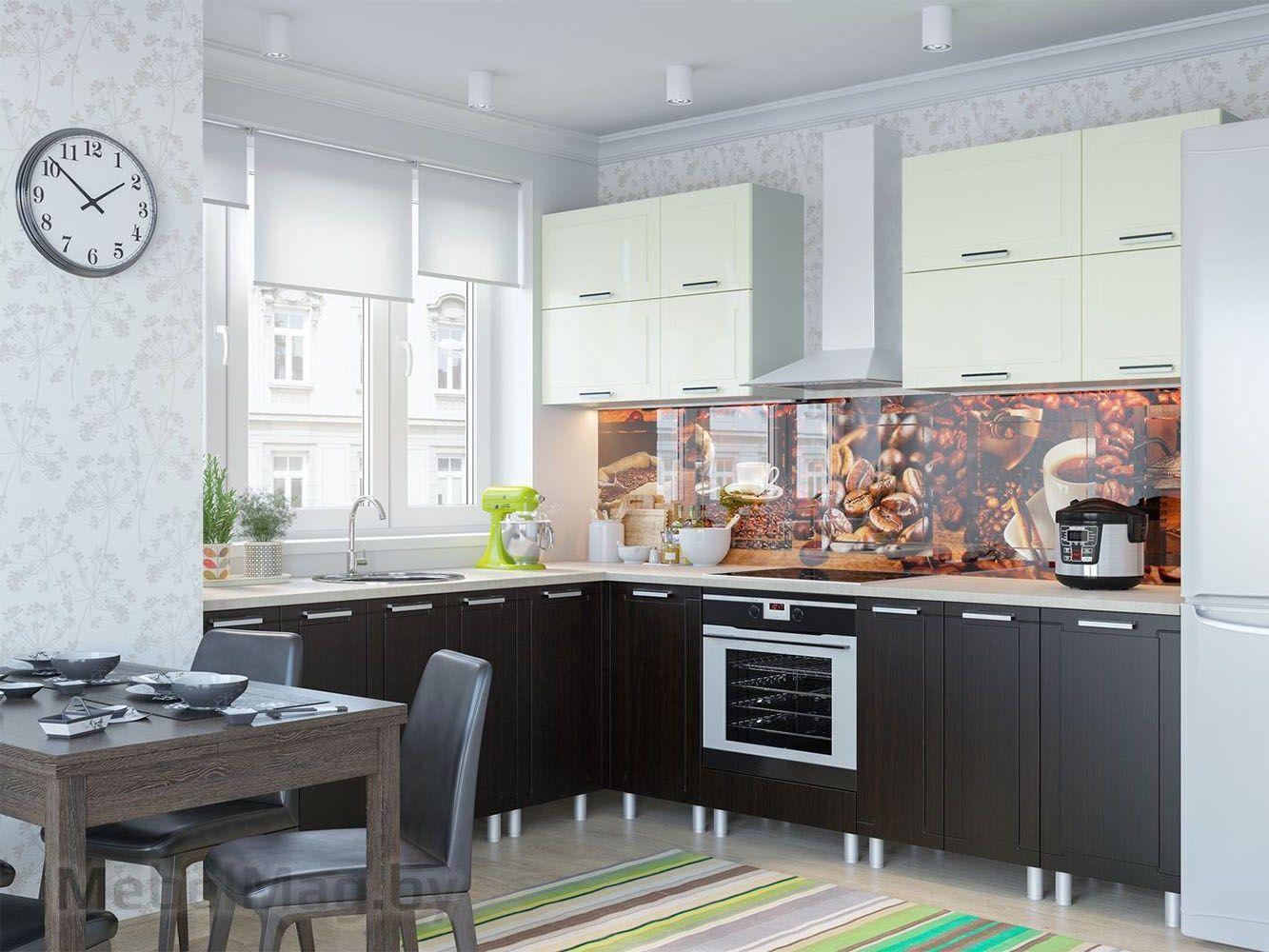 Кухня Геометрия Ваниль - набор 2