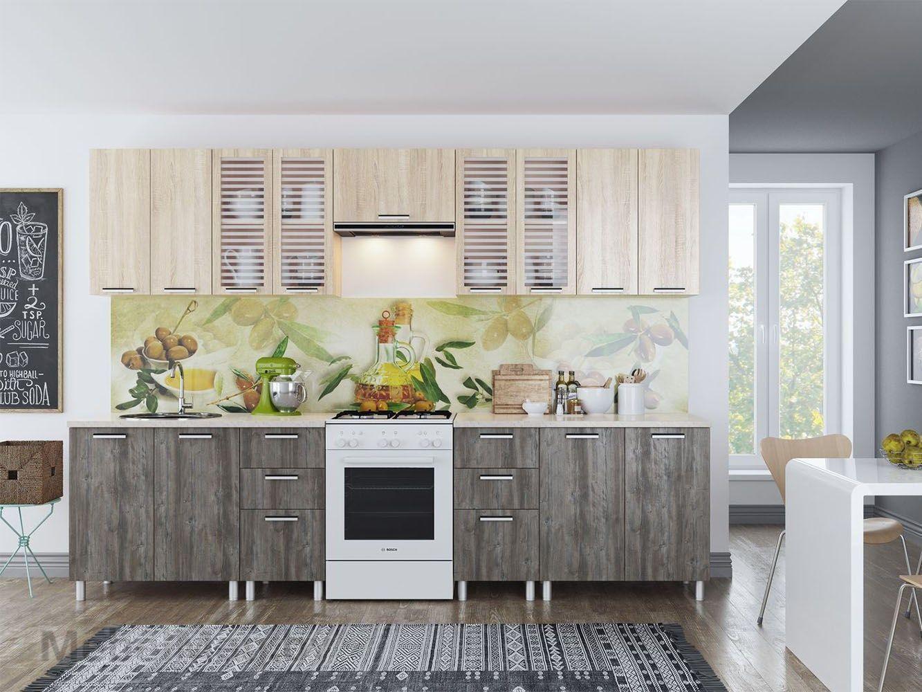 Кухня Карамель 3м - Сосна Джексон