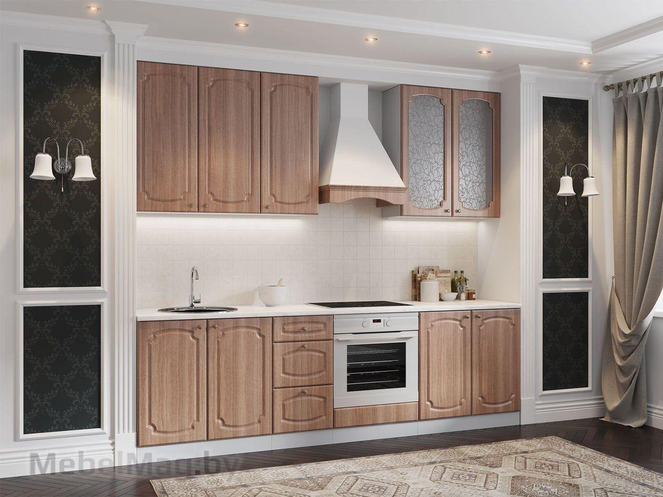 Кухня Классика - Ясень шимо тёмный (2,6м) 912