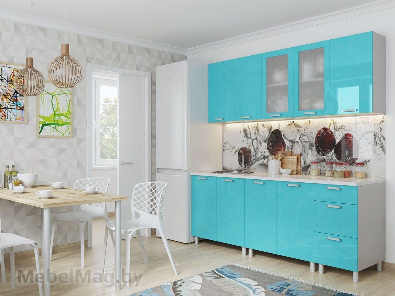 Кухня Модерн - Бирюза (2,0м)