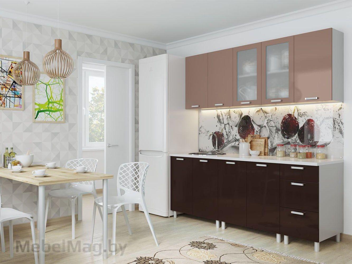 Кухня Модерн - Горький шоколад/Шоколад (2,0м)