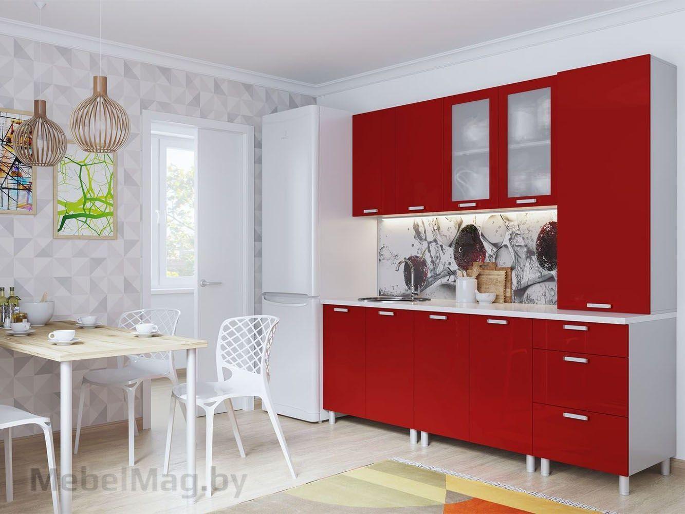 Кухня Модерн - Гранат (2,1м)