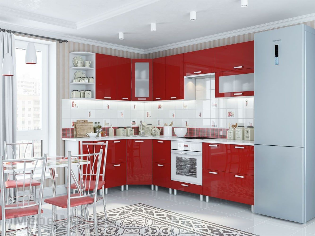 Кухня Модерн - Гранат с СГ