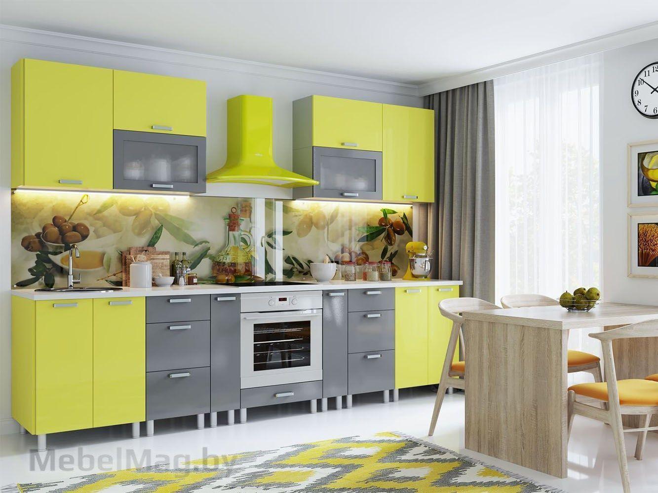 Кухня Модерн Груша/Графит (3,6м)