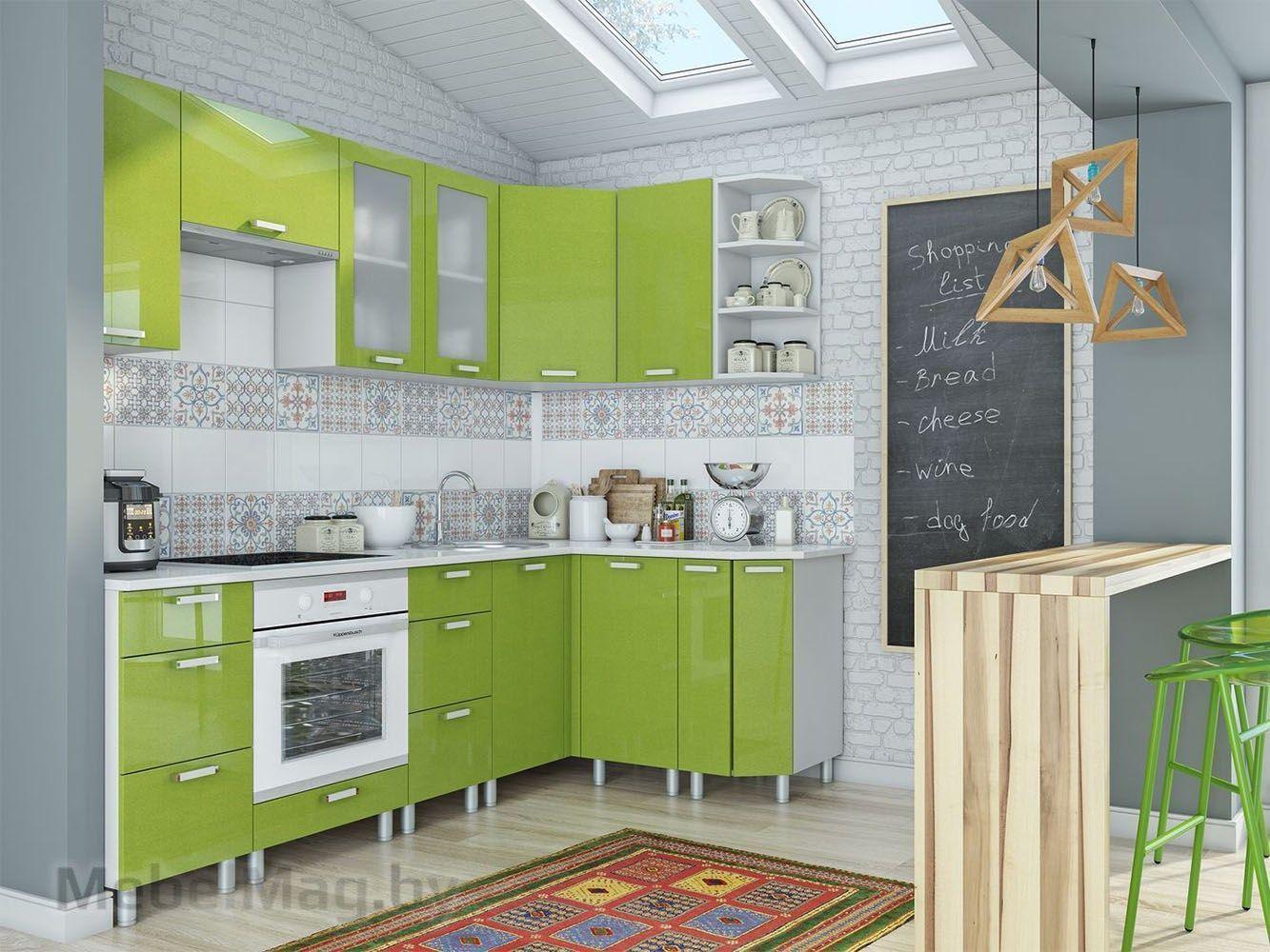Кухня Модерн - Олива (угловая)