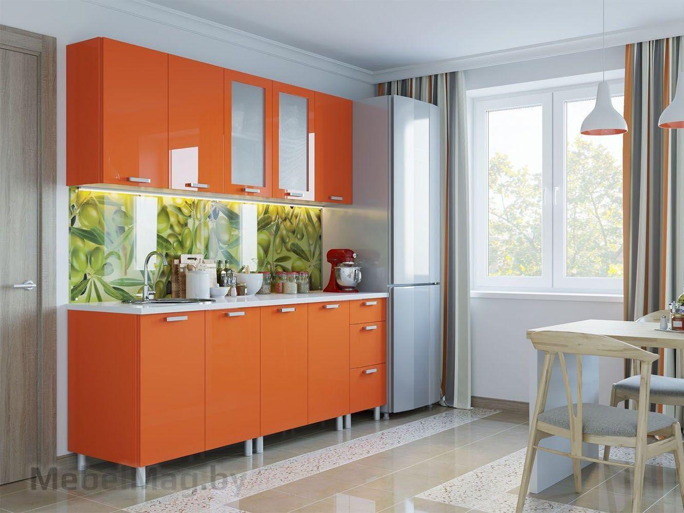Кухня Модерн - Оранж декоративная панель