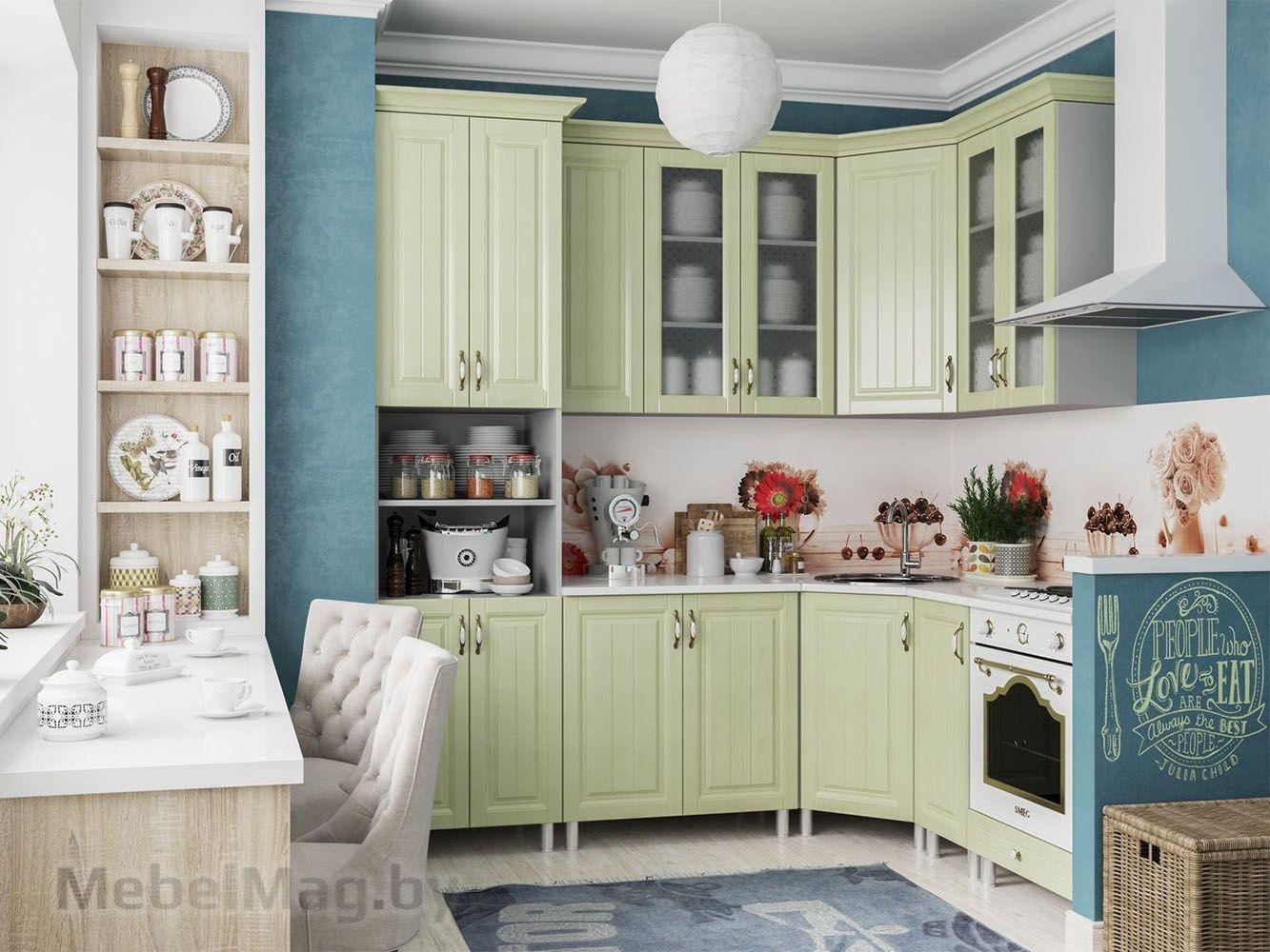 Кухня Прованс - Фисташка с пеналом