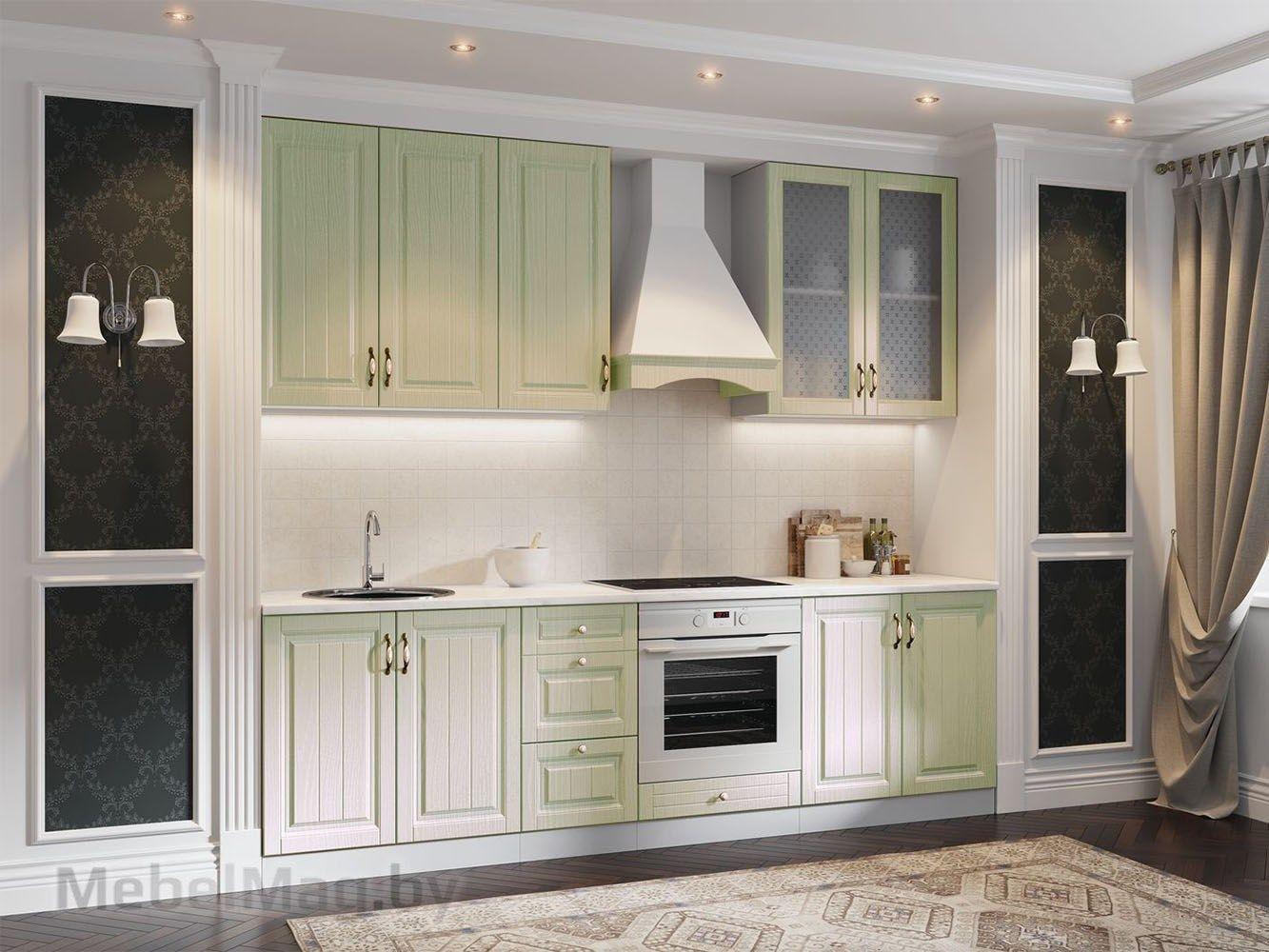 Кухня Прованс - Фисташковый структурный (1,6м)