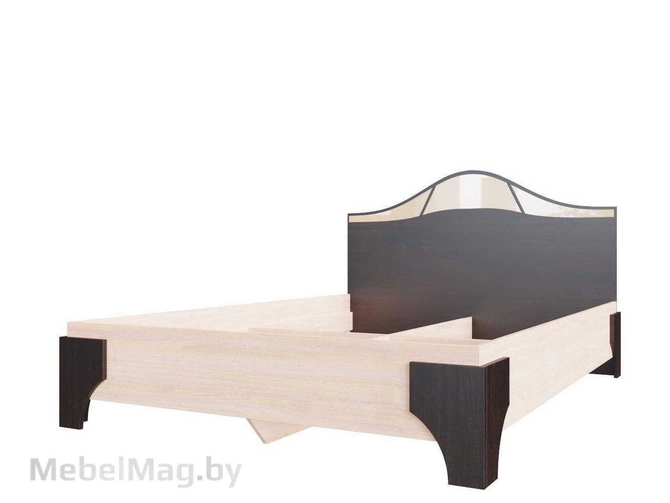 Кровать двойная 1,4x2,0 Дуб венге/Дуб млечный - Коллекция Лагуна 5