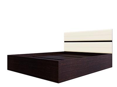 Кровать двойная 1,4 Дуб венге/Жемчуг - Модульная система №1