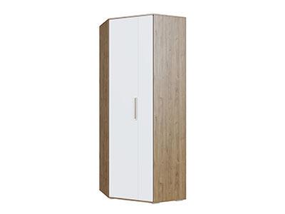 Шкаф угловой Гикори тёмный/Белый - Коллекция Гарвард