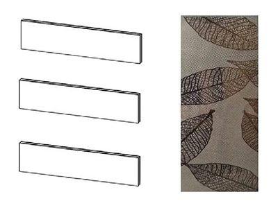 Комплект стекол Комод 3 ящика - Модульная система Николь 1